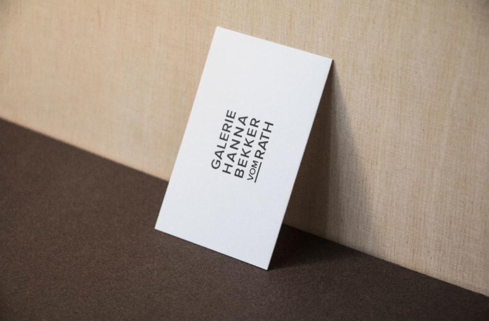 Galerie Hanna Bekker vom Rath